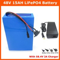 Wholesale Hot sale V AH LiFePO4 battery W V Electric Bike battery with PVC case A BMS V A charger