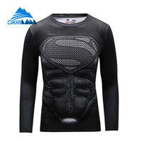 Wholesale Cikrilan New Men Super Hero Outdoor Sport Trekking Hiking Fitness Tshirt Homme Quick Dry Long Sleeve Bicycle Sportswear T shirt