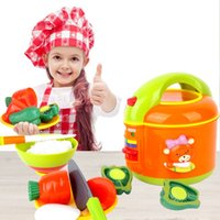 Wholesale Children play toys Xingyue electric cooker kitchen simulation role playing music as baby toys