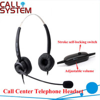 Wholesale call center phone headset Anti noise Call Center Telephone Headphone headset with RJ09 Plug with Volume Control and mute function
