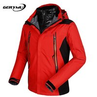 Wholesale Men Outdoor Sports Ski Soft Shell Jacket Fleece Warm Hunting Hiking Camping Climbing Waterproof Windproof