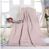 Wholesale The Latest Version Of High Quality Summer Of Quilt Water Washing Pink Plaid There Are Three Dimensions Suitable For Family Use