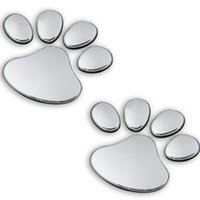 best bumper stickers - Auto decals with Dog paw Bumper Stickers soft pvc silver Cool cheap car decals Best Silver Gold Red Auto Decals with Dog Paw
