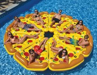 Wholesale 72 inch M Gigantic pizza slice pool float inflatable Pizzas swimming float for pool Swim Ring Water Fun Pool Toys For Adult