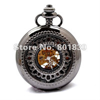 antique hand saws - Luxury Roman Number See Through Hand Wind Men s Mechanical Pocket Watch W Chain Gift Price H164