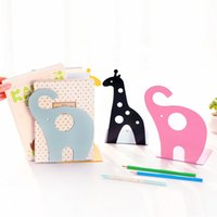 Wholesale Three year two class South Korea stationery cute animal shape metal book reading rack color book