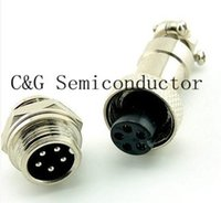 Wholesale pairs GX12 pin GX12 mm Pins V A Male amp Female Electrical Connector Aviation Connector Plug