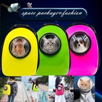 backpack travel europe - Space Capsule Shaped Pet Carrier Breathable pet backpack PC pet dog outside Travel bag portable bag cat bags GH16080301