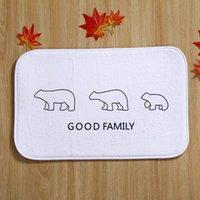 bear bathroom - Bears White Tapete Para Banheiro Bath Mats Polyester Coral Fleece Rectangle Cartoon Non slip Bathroom Bedroom Carpet Home Mat
