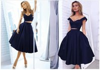 Wholesale Black Short Party Cocktail Dresses Sexy Spaghetti Two Pieces A Line Knee Length Prom Homecoming Gowns Plus Size Cheap Formal Wear Plus Size