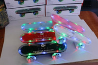 arrival surround speakers - 2016 New Arrival Skateboard Bluetooth Wireless scooter Speaker Mobile Audio Mini Portable Speakers with Led Light Christmas gift