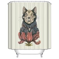 Wholesale Customs W x H Inch Shower Curtain Skull Wolf Waterproof Polyester Fabric Shower Curtain