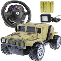 automobile electric steering - Steering wheel hummer remote control car oversized off road remote control car charge toy car remote control automobile race boy