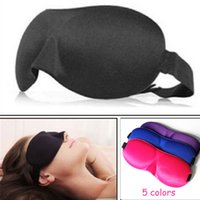 Wholesale HOT SALE D Portable Soft Travel Sleep Rest Aid Eye Mask Cover Eye Patch Sleeping Mask Case