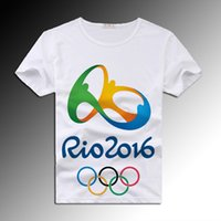 Wholesale men t shirt Rio Olympics Games Commemorative Anti Pilling for Men Print Cartoon
