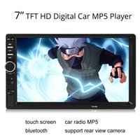 touch screen car audio - 7018B DIN car Bluetooth Audio quot HD Radio In Dash Touch Screen Stereo MP3 MP5 Player USB CMO_20O