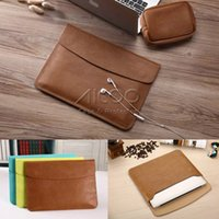 Wholesale High End PU leather Laptop Case Bag For Notebook Document Bag For Macbook Leather Liner Sleeve For Macbook Air Pro retina