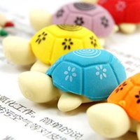 animal shaped erasers - Japan South Korea stationery sets Cartoon cute Colorful little turtle shape Pencil Rubber Animal eraser