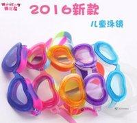 Wholesale Kids Professional Heart Style Swimming Goggles Anti Fog Uv Protection Plating Children Swimming Eyewear Best Swim Water Glasses