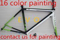 Wholesale Carbon Road Bike frame supersix evo carbon frame BSA BB30 available light weight Bicycle Frameset White Green bike frame