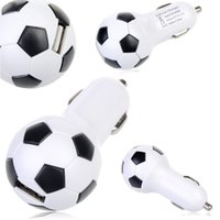 au football - High Quality V A World Cup Soccer Football Car Charger Adapter for iPhone C S Samsung Galaxy S4 S5 Note etc