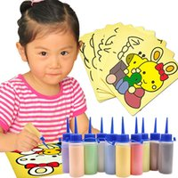 Wholesale Lotus Angel sand painting sand painting set a bottle of educational toys for children Handmade stickers with a tutorial