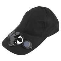 Wholesale cap one Summer Sport Outdoor Hat Cap with Solar Sun Power Cool Fan For Cycling
