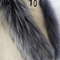 Wholesale real fur collar genuine silver fox fur scarf winter hot sell cm for women the three colors