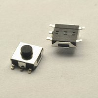 Wholesale 200PCS SMD pins Copper foot mm black Switch Tactile Push Button Switches Waterproof copper head