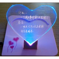Wholesale Creative love luminous LED message board LED electronic fluorescent board advertising board WordPad grams love