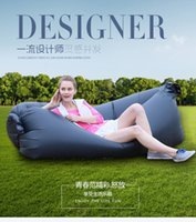 big couches - Inflatable Outdoor Pads Air Sleep Sofa Couch Portable Furniture Sleeping bags Hangout Lounger Inflate Air Bed Imitate Oxford Cloth Color