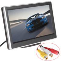 5 pouces 2 voies Entrée vidéo TFT LCD 480 x 272 Définition numérique panneau couleur moniteur de voiture arrière pour caméra de recul