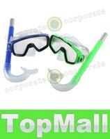 Wholesale LAI GHJB728 New Arrival PVC Swimming Scuba Anti Fog Goggles Mask Snorkel Set