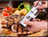 Wholesale 6 inch Salt Herb Spice Pepper Mills Food Grinder Faucet Shape Stainless Steel Creative Kitchen Cooking Condiment Sauce DIY Tool