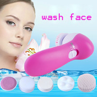 Wholesale 5 pieces sets replace facial cleansing brush electric face brush cleansing tool acne removal tool Brush cleansing instrument accessories