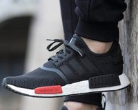 art patchwork - Original Adidas nmd Runner Running Shoes For Women Men Cheap Originals Sneakers Patchwork Grey White Boost Free Ship With Box