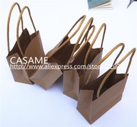 Cheap 15CM*10CM Kraft Craft Paper handle shopping gift bags Paper birthday Designs of Party Bags 160406#