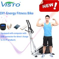 Wholesale Self generating Fitness Bike DIY Energy Fitness Bike fitness equipment elliptical bike Autogenerada aptitud bici