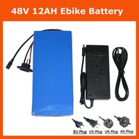 Wholesale 2PCS V AH battery electric bike battery V AH Lithium ion battery pack with V A Charger A BMS