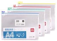 Wholesale Brand Deli PVC plastic ziplock bags transparent zipper bag A5 A4 size high quality thinkness