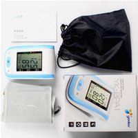 Wholesale Arm Blood Pressure Pulse Monitor beat meter Health care Monitors Digital Upper Portable Blood Pressure Monitor meters sphygmomanometer