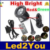 Wholesale IP65 Outdoor Red Green Led Laser Garden Lawn Light Firefly Shower Landscape Light IP67 with Spike for New Year Holiday Xmas AC100 V