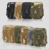 Wholesale Army Tactical Purse Hanging Bags Outdoor Sport Change Purse Cell Phone Case Waist Belt Wallet Pocket Camouflage Bag OOA850