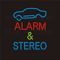 auto alarm shops - NEON Sign For Auto Alarm Stereo Real GLASS Tube Bar Food Club PUB Car Signboard Display Store Shop Light Custom Signs quot