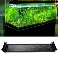 Аквариум Fish Tank Smd светодиодные лампы 11W 2 Режим 50см 60 белый + 12 Синий EU / UK / US штепсельной вилки морской аквариум светодиодное освещение Aquario