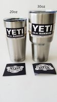 Wholesale Insulated Stainless Steel YETI oz oz o Cup Cooler YETI Rambler Tumbler For Travel Vehicle Beer YETI Mug Tumblerful Bilayer Vacuum