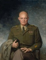 Wholesale dwight d eisenhower Portrait of the general Genuine Handpainted Portrait Art Oil Painting On High Quality Canvas in customized size accepted