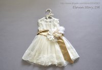 Wholesale Eleven Story hot sell new baby kids summer Girls lace party dress clothing tulle children clothes ES505DS38