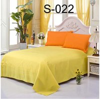 Wholesale Hotel Home solid Single Double Flat Sheets Twin Full Queen size Sheet coverlet Coverlid Bedspread Sheets Home Textiles Bedding Supplie
