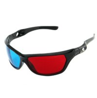 anaglyph lenses - MOQ D glasses with Full Frame Red Blue Mixed Color Lens for Dimensional Anaglyph Movie Cheap Price JK